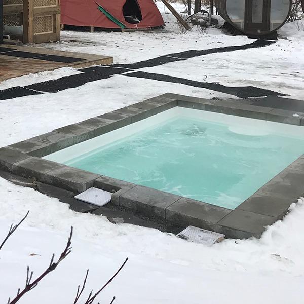 Bain chaud salé
